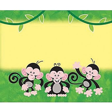 Trend Enterprises pre-kindergarten - 2nd Grades Name Tag, Monkey Mischief, 288/Pack (T-68024)