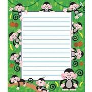 "Trend Enterprises® 7 3/4"" x 6 1/2"" Note Pad, Monkey"