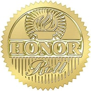 Trend Enterprises Award Seals Stickers, Honor Roll, Gold, 192/Pack (T-74005)