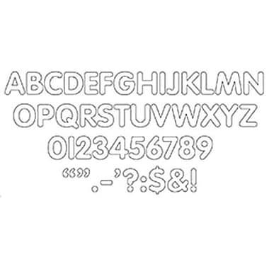 Trend Enterprises - Ensemble lettres, chiffres et signes autocollants 2 po Stick-eze, blanc, 1944/paquet (T-78002)