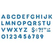 "Trend Enterprises® Ready Casual Uppercase Letter, 4"", Blue Sparkle"