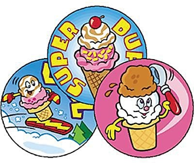 Trend® Stinky Stickers®, Large Round, Scented Cool Cones