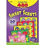 Trend Stinky Stickers® Scratch-and-Sniff Variety Pack, Mixed Shapes/Round, 480/PK