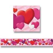 """TREND T-85027 35.75' x 2.75"""" Straight Hearts Bolder Border, Multicolor"""