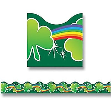 Trend Enterprises® Pre-kindergarten - 5th Grades Scalloped Terrific Trim, Shamrocks and Rainbow