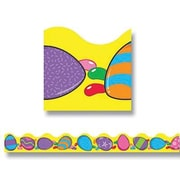 "TREND T-92005 39' x 2.25"" Scalloped Easter Eggstravaganza Terrific Trimmer, Multicolor"
