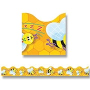 "TREND T-92047 39' x 2.25"" Scalloped Busy Bees Terrific Trimmer, Yellow"