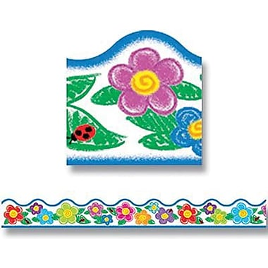 Trend Enterprises® Pre-Kindergarten - 9th Grades Scalloped Terrific Trimmer, Crayon Flowers