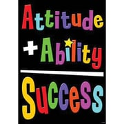 Trend Enterprises® ARGUS® Poster, Attitude + Ability = Success