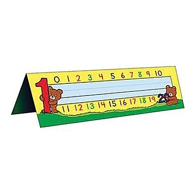 Teacher Created Resources® Infant - 1st Grades Name Plate, Alphabet/Numbers Tented