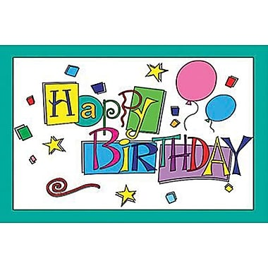 Teacher Created Resources Happy Birthday Postcard, 180/Pack (TCR1201)