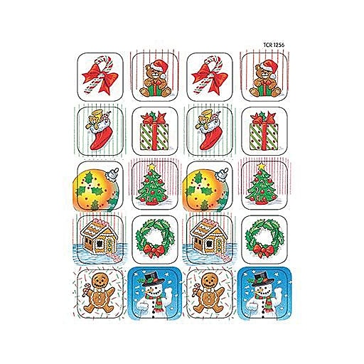 Christmas Stickers.Teacher Created Resources Christmas Stickers Pack Of 120 Tcr1256