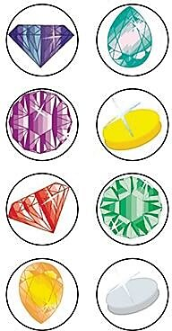 Teacher Created Resources Mini Stickers, Jewels