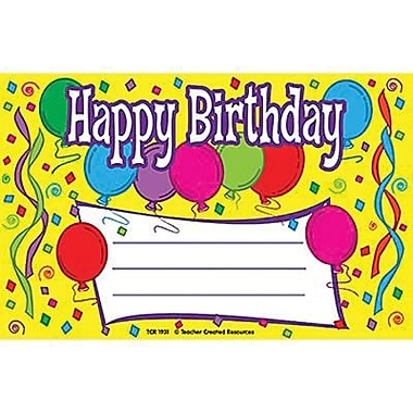 Teacher Created Resources® Happy Birthday Awards