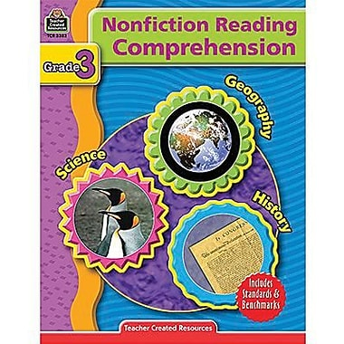 Teacher Created Resources Nonfiction Reading Comprehension Book, Grade 3 (TCR3383)