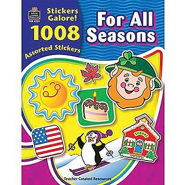 Teacher Created Resources Stickers Book, For All Seasons, 1008/Pack (TCR4224)