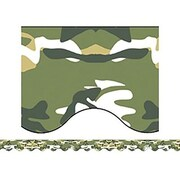 """Teacher Created Resources TCR4610 35"""" x 2.187"""" Scalloped Camouflage Border Trim, Multicolor"""