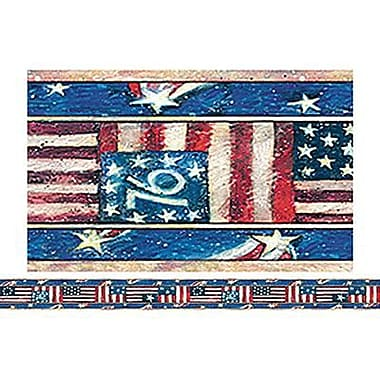 Teacher Created Resources Infant - 12th Grades Straight Bulletin Board Border Trim, Patriotic, 72/Pack (TCR4631)