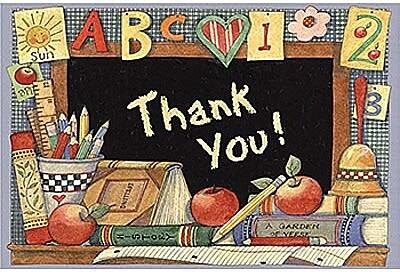 Teacher Created Resources® Susan Winget Thank You Postcard