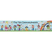 "Teacher Created Resources TCR7005 39"" x 8"" Straight Children's Ten Commandments Banner, Multicolor"