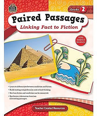 Teacher Created Resources® Paired Passages Linking Fact To Fiction Book, Grades 2nd
