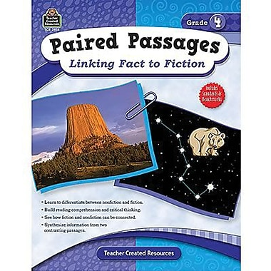 Teacher Created Resources Paired Passages Linking Fact To Fiction Book, Grade 4 (TCR2914)