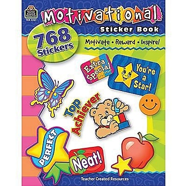 Teacher Created Resources Stickers Book, Motivational, 1536/Pack (TCR4261)