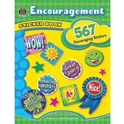 Teacher Created Resources Stickers Book, Encouragement, 1134/Pack (TCR4434)