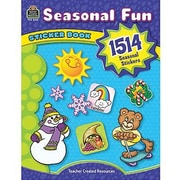 Teacher Created Resources Seasonal Fun Stickers Book, 3028/Pack (TCR4435)