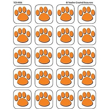 Teacher Created Resources Stickers, Orange Paw Prints, 1440/Pack (TCR4486)