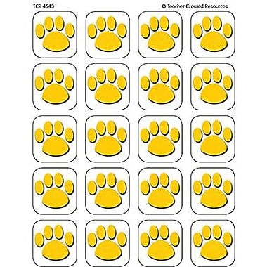 Teacher Created Resources Stickers, Gold Paw Prints, 1440/Pack (TCR4543)