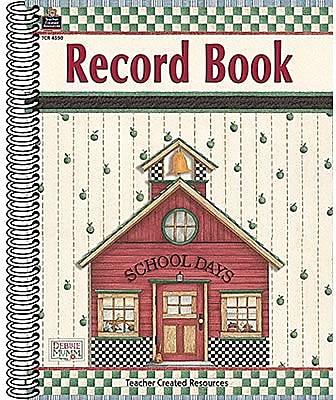 Teacher Created Resources® Record Book From Debbie Mumm, Grades Kindergarten - 8th