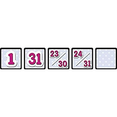 Black Polka Dot Calendar Days