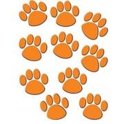 "Teacher Created Resources TCR4649 6"" DieCut Paw Prints Accents, Orange"