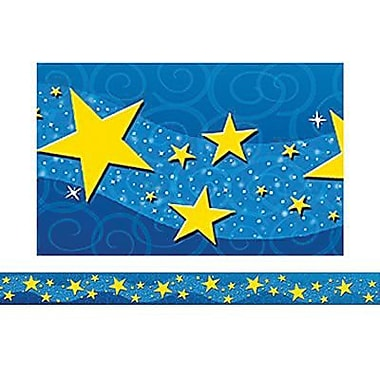 Teacher Created Resources Pre-school-12th Grades Straight Bulletin Board Border Trim, Starry Night, 72/Pack (TCR4696)