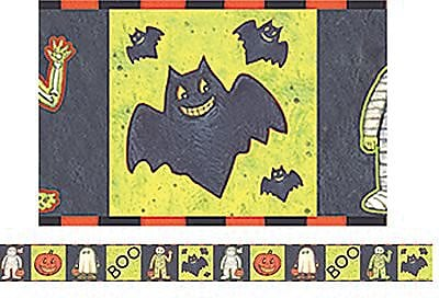 Halloween Straight Border Trim, 3x35