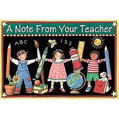 Teacher Created Resources® Susan Winget A Note From Your Teacher Postcard