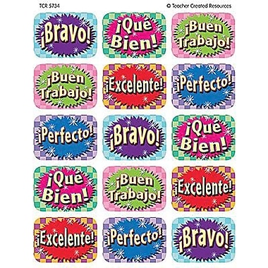 Teacher Created Resources Jumbo Stickers, Good Work (Spanish), 1080/Pack (TCR5734)