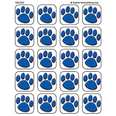 Teacher Created Resources Stickers, Blue Paw Prints, 1440/Pack (TCR5747)