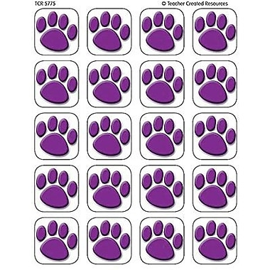 Teacher Created Resources Stickers, Purple Paw Prints, 1440/Pack (TCR5775)