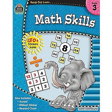 Teacher Created Resources® Ready - Set - Learn, Math Skills Book, Grades 3rd
