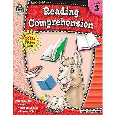 Teacher Created Resources® Ready Set Learn Reading Comprehension Book, Grades 3rd