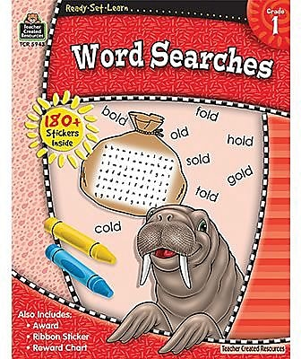 Ready•Set•Learn: Word Searches, Grade 1