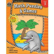 Ready•Set•Learn: Math Puzzles & Games, Grade 1
