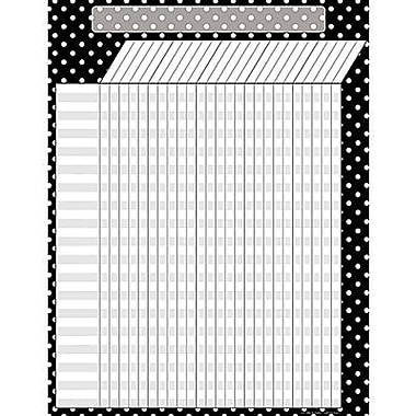 Teacher Created Resources® Polka Dots Incentive Chart, Black