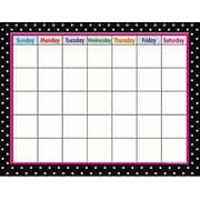 Teacher Created Resources® Calendar Chart, Black Polka Dots