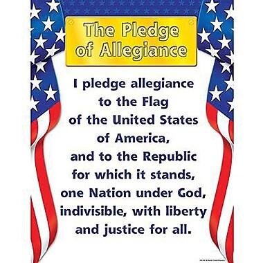 Teacher Created Resources® Pledge of Allegiance Chart