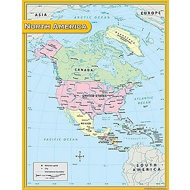 Teacher Created Resources® North America Map Chart