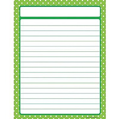 Teacher Created Resources® Polka Dots Lined Chart, Lime