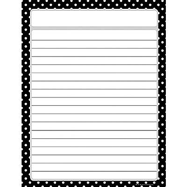 Teacher Created Resources® Polka Dots Lined Chart, Black